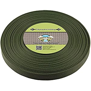 Country Brook Design | Dark Olive Drab Polypropylene 3/4 Inch Webbing (25 Yards)