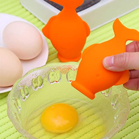 Silicone Egg Separator Silicone Egg Yolk White Separator,YolkFish Lips Swallow Release Kitchen Tool Gadget Cooking Baking Tool Egg Extractor