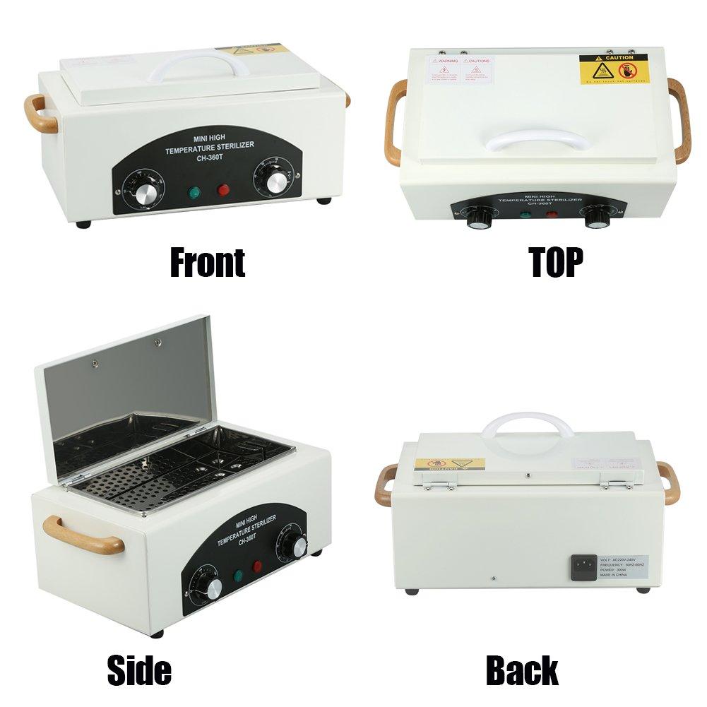 Esterilizador de calor seco esterilizador de alta temperatura para u/ñas SPA Salon tienda de tatuajes Desinfecci/ón del gabinete instrumentos