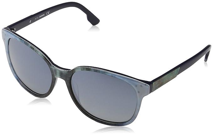 Diesel Damen Sonnenbrille DL0121, Gr. Medium, Blau (Blau 86C)