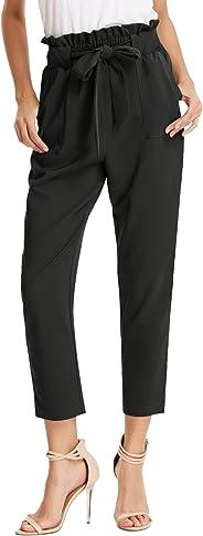 GRACE KARIN Women's Casual Slim Fit Elastic Waist Cropped Pants Trousers