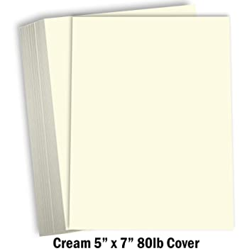 Amazon.com: Hamilco Crema Color Cartulina gruesa papel ...