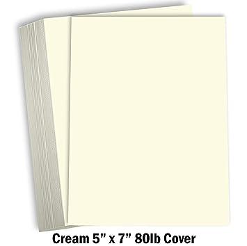 Amazon.com: Hamilco Crema Color Cartulina gruesa papel ...