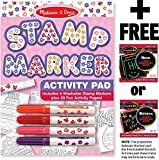 Pink: Stamp Pen Activity Pad + FREE Melissa & Doug Scratch Art Mini-Pad Bundle [24211]