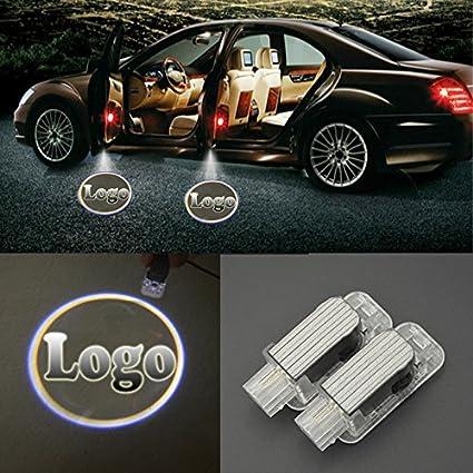 ecahayaku 2 pcs Audi Logo Puerta del coche LED luz 3d proyector ...
