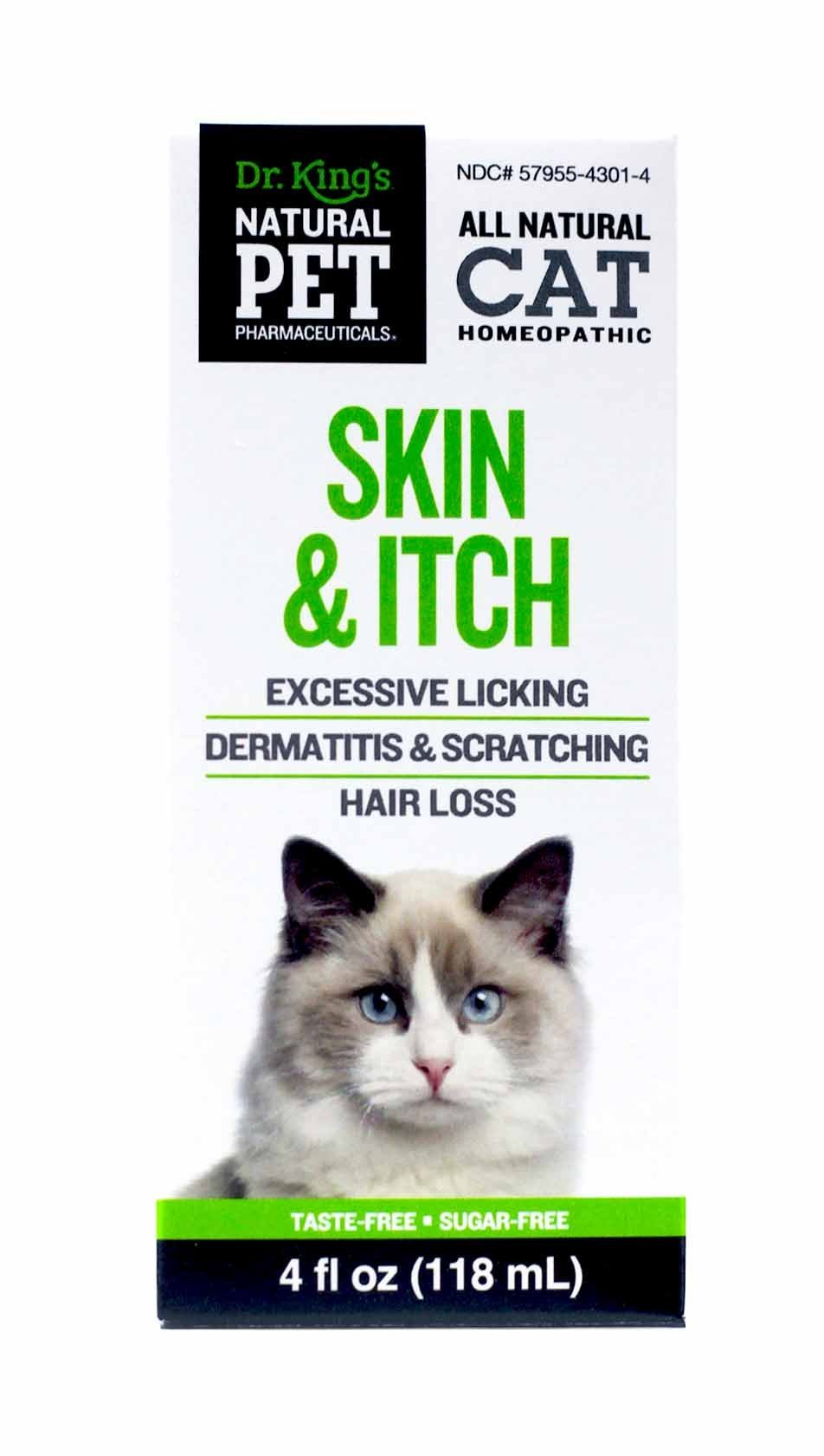 Natural Pet Pharmaceuticals by King Bio Skin and Itch Control for Cat, 4-Ounce