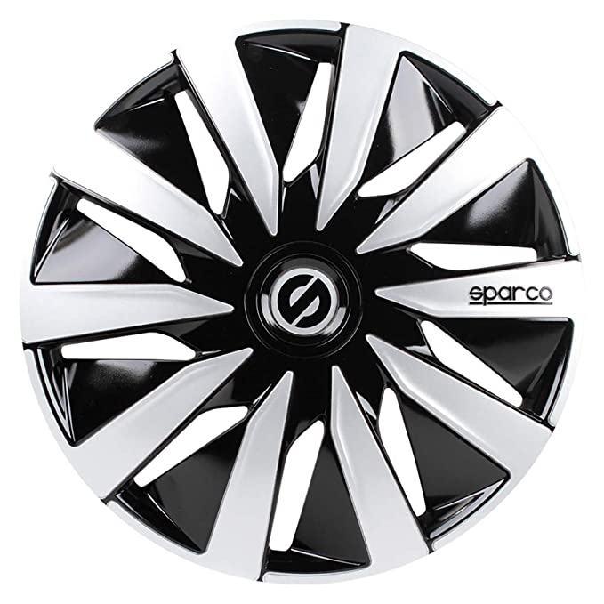 Amazon.com: Sparco SPC1490SV Lazio Wheel Covers, Silver, Set of 4, 14