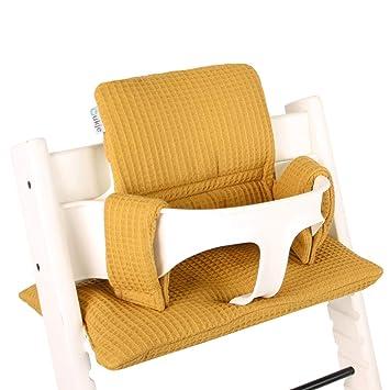 Stokke Tripp Trapp Sitzkissen Sitzverkleinerer bei UKJE /♥ Veganes Leder /♥ Praktisch und sch/ön /♥ Gold /♥ Maschinenwaschbar