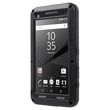 info for 4f585 dd01e Love Mei Sony Xperia Z5 Compact Powerful Hybrid Case, Cover, Snap-on Case,  Shell - Black