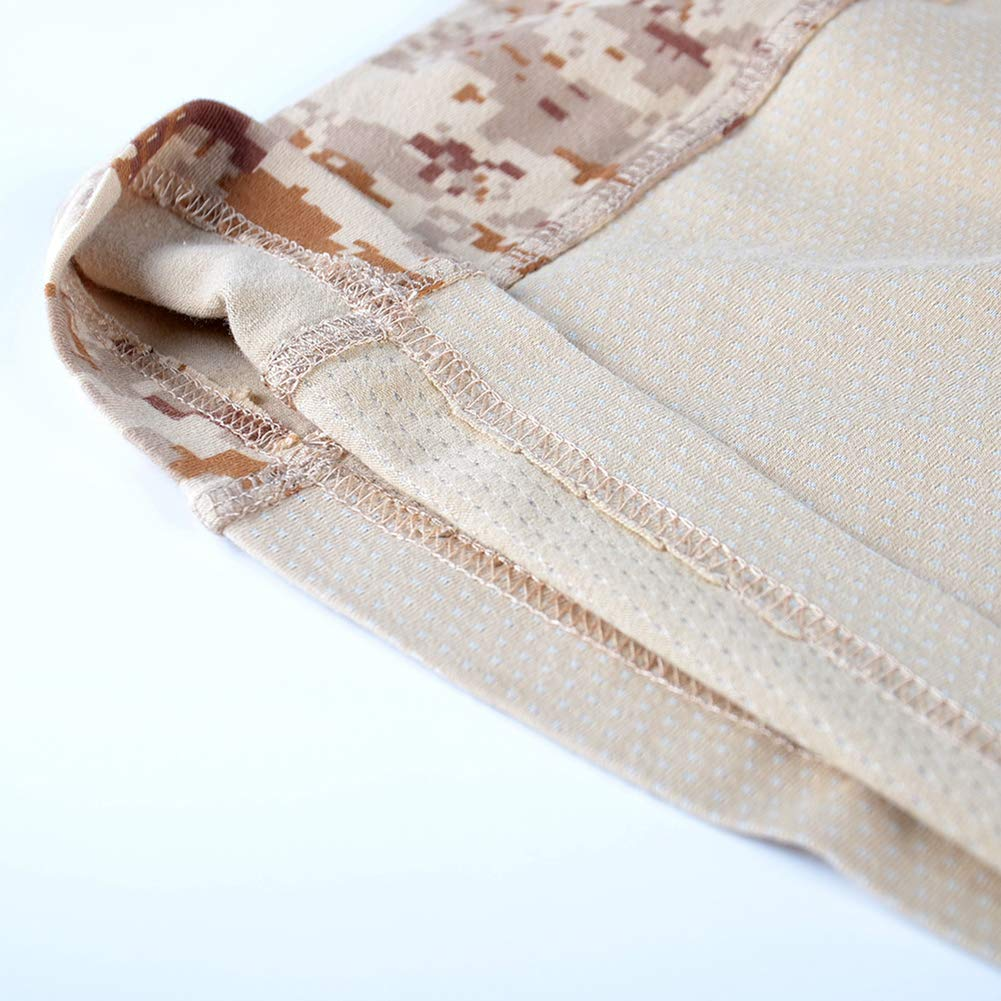 Herren Kampfhemden Taktisch Milit/är Tarnen Shirt 1//4 Zip Langarm T-Shirt
