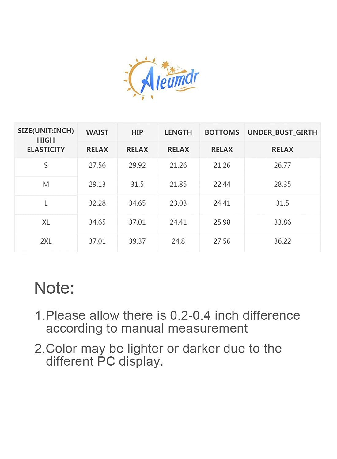 Aleumdr Women Two Piece Swimsuit High Neck Racerback Floral Printed Tankini Sets