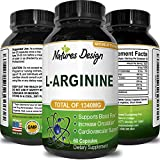 Pure L-Arginine Supplement for Heart Health – Amino Acid Muscle Growth Workout Support Exercise Strength Boost – Best Libido Enhancement – Natural L Arginine Pills for Men & Women by Natures Design - 61pNbVzhKcL - Pure L-Arginine Supplement for Heart Health – Amino Acid Muscle Growth Workout Support Exercise Strength Boost – Best Libido Enhancement – Natural L Arginine Pills for Men & Women by Natures Design