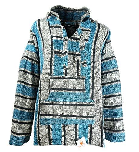Funny Guy Mugs Premium Baja Hoodie Sweatshirt Pullover Jerga Poncho (Ice Man, (Guy Hippie)