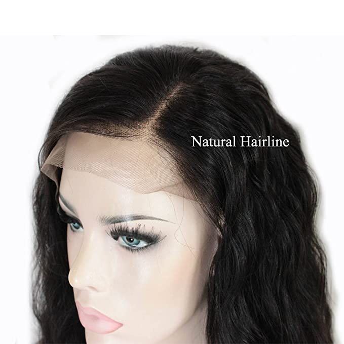 Zana en estado natural Virgin brasileño Bob Wet ondulado peluca de cabello humano natural Wave Lace Front Peluca/tablón Full Lace Front Peluca para mujer ...