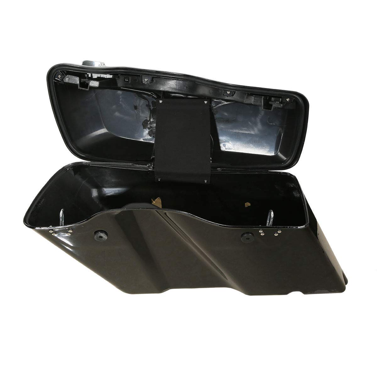 TCMT 5'' Stretched Extended Saddlebags W/Latch Key Fits For Harley Touring 2014-2019 by TCMT (Image #4)