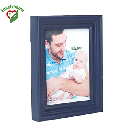Cheap Size A3 Wooden Picture Frame Blue Color Family Photo Frames