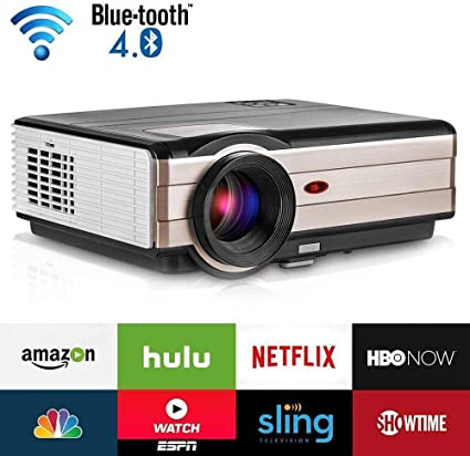Amazon.com: Proyector de película WiFi Bluetooth 4200 ...