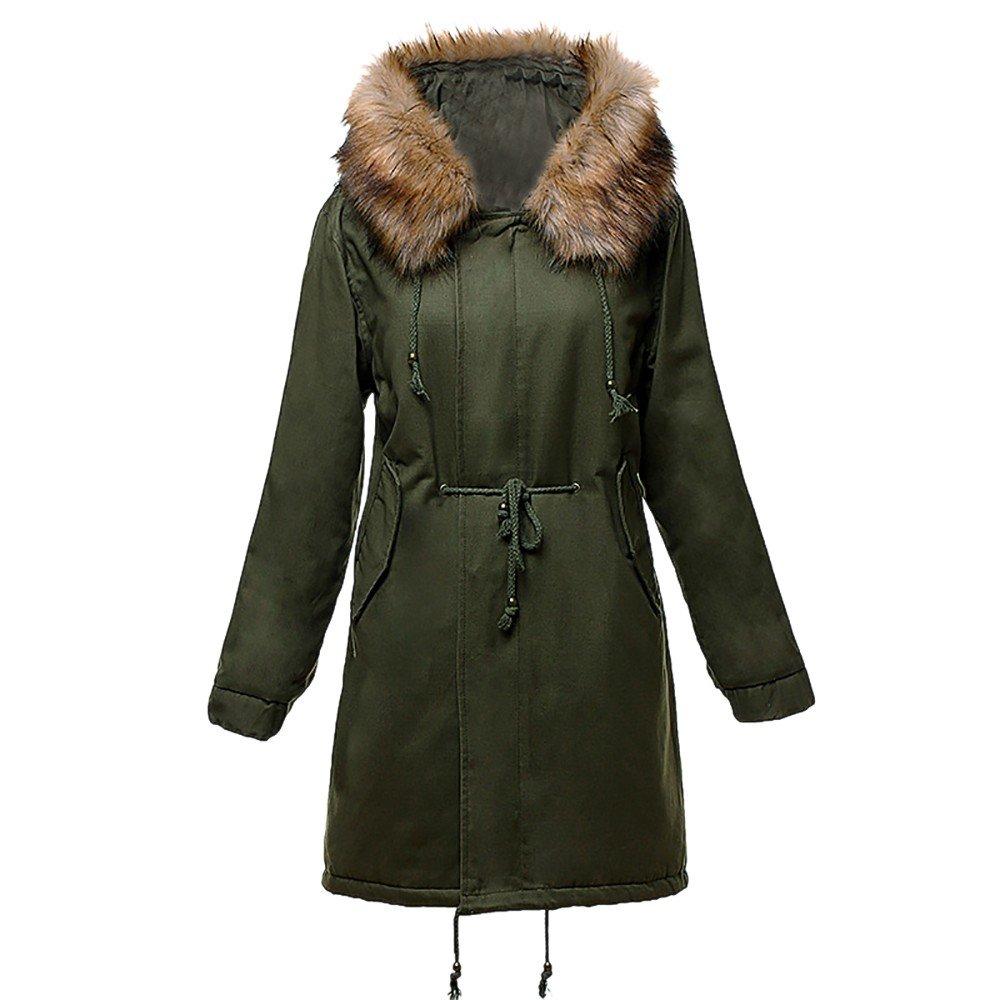 Wool Coat,Kulywon Fashion Winter Warm Womens Jacket lambswool Cotton Coat Parka Thicker Outwear