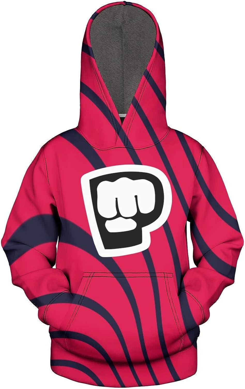 Heart Wolf Pewdiepie-Logo Hoodies for Kids Teens,Girls Boys 3D Print Pullover Sweatshirts Hooded Hoody with Pocket
