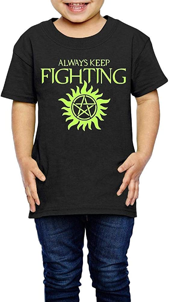 XYMYFC-E Always Keep Fighting Supernatural 2-6 Years Old Children Short-Sleeved Tee Shirts
