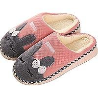 SAGUARO® Automne Hiver Pantoufles Coton Peluche Chaussons Doublure Intérieure Douce Mules Femme Homme Accueil Slippers Chaussures