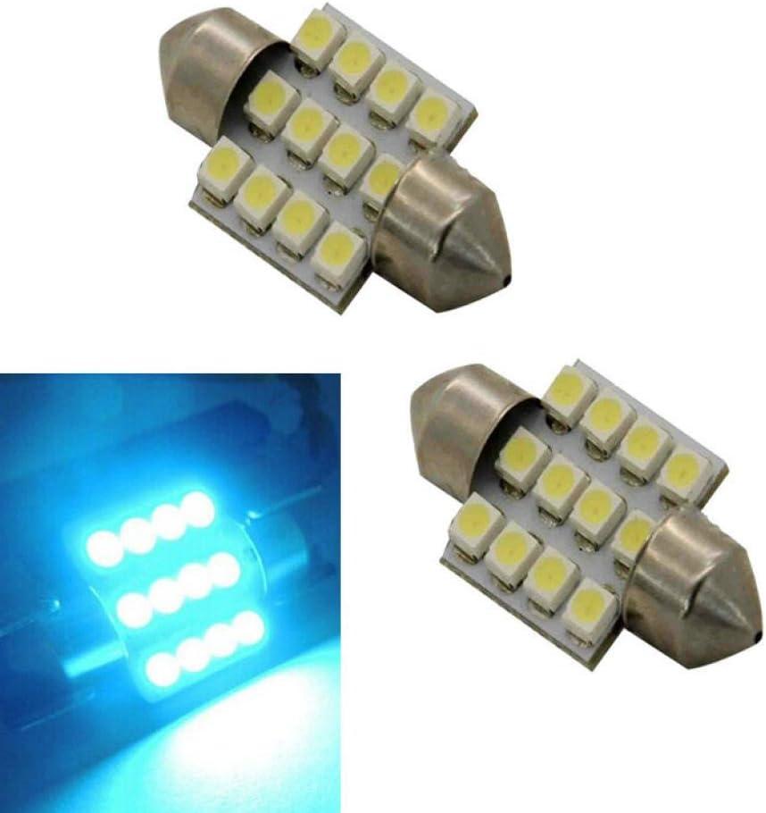 yellow Quaant Car Interior light,2x Aqua Blue 31mm 12-SMD DE3175 DE3022 LED Bulbs For Car Interior light
