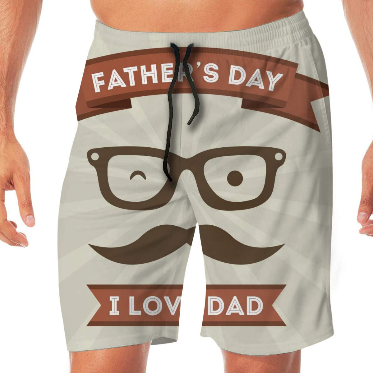 Summer Pockets Fathers Day Mens Shorts Trunk Swim Beach Casual