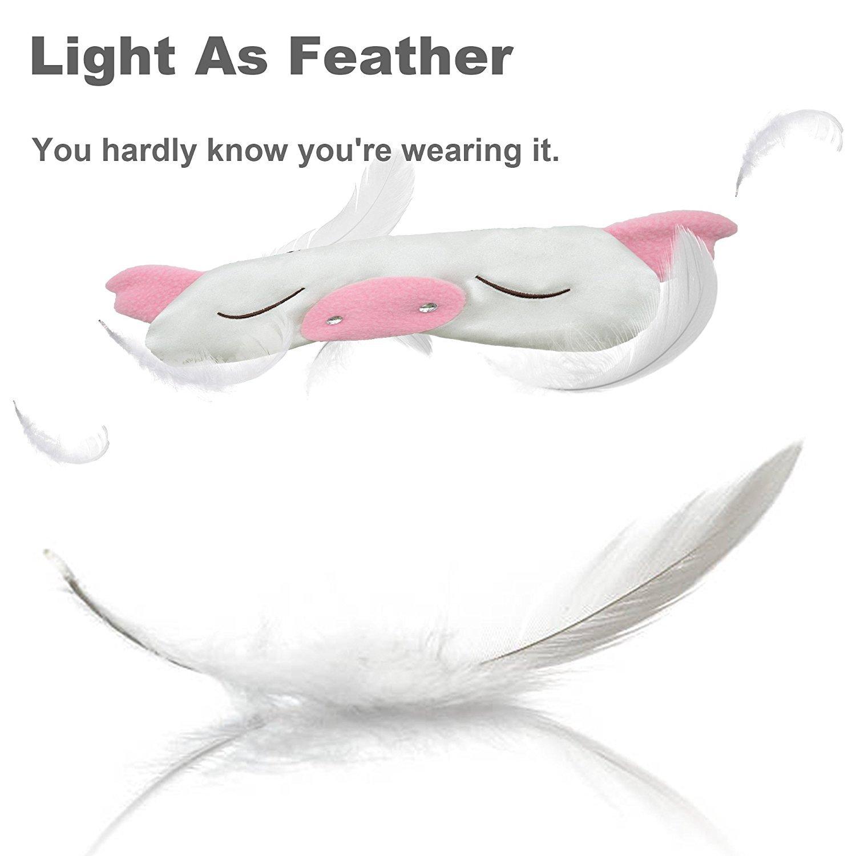 Pañuelo de seda de MSSilk de tejido transpirable para vestidos en estado puro con función de suspensión y de máscara de ojo del de piel sintética con diseño ...