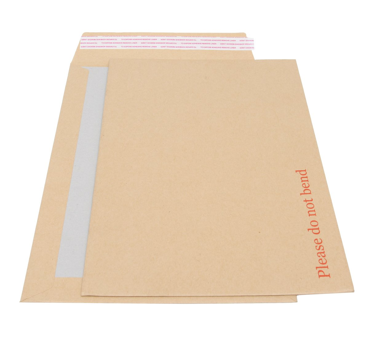 "Board Backed Envelopes A4 - 235 x 328mm. 125 Pack. Rigid Cardboard Back & ""Please Do Not Bend"" Printed On Front Of Thick Strong Manilla. Secure Peel & Seal Closure. Prevents Creasing & Keeps Documents Flat, So Ideal For Mailing Artwork & C"