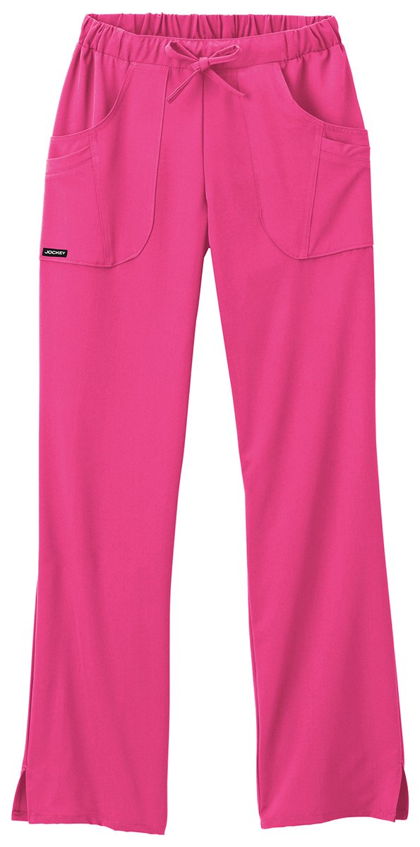Classic Fit Collection by Jockey Women's Next Generation Elastic Drawstring Waist Scrub Pant XX-Large Petite Posh Pink