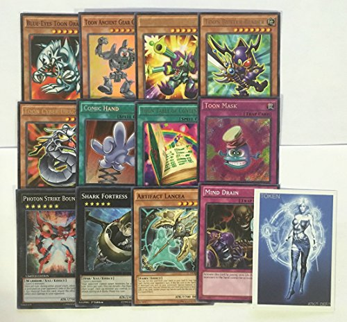 YUGIOH Tournament Ready Toon Deck with Complete Extra & Side Deck and exclusive Phantasm Gaming Token