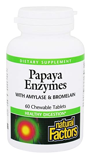 Amazon.com: Natural Factors Papaya enzimas masticables ...