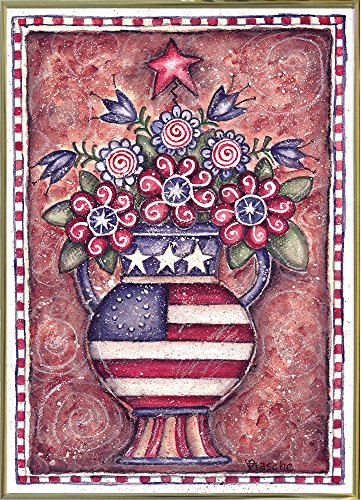 Patriotic Flower Arrangement- - pretty USA wall art decor