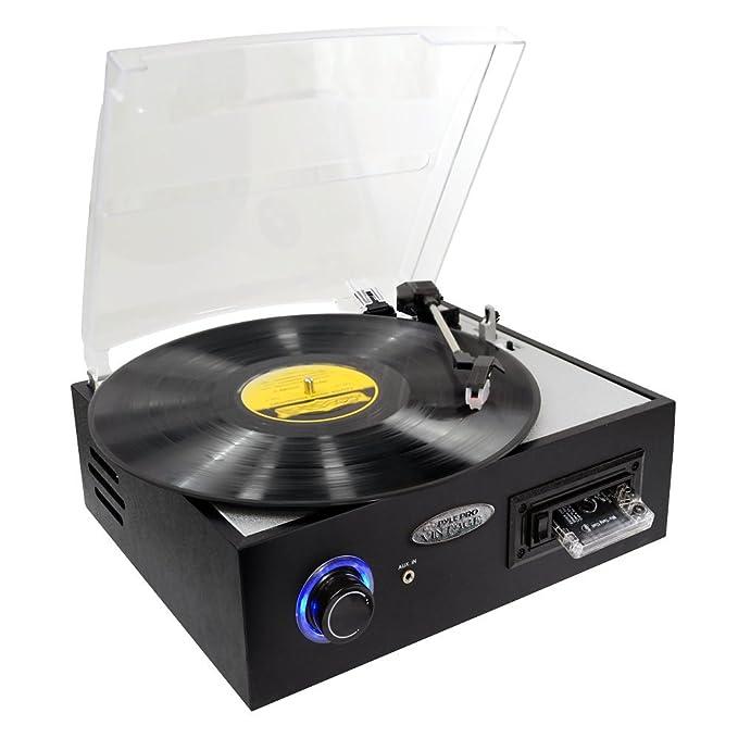 Amazon.com: Pyle Turntable Record Player y pre-amplifier ...