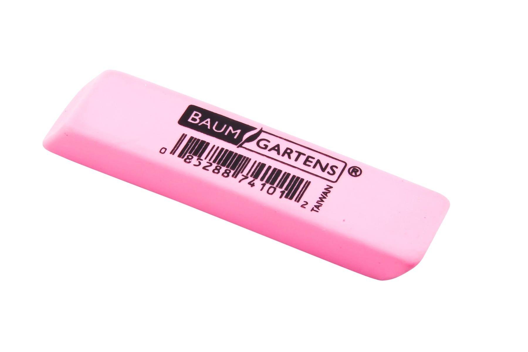 Baumgartens Pink Pencil Eraser 1 Each Pink (Pack of 1400) (74101)