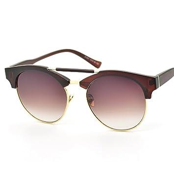 WKAIJC Trends Mode Retro Große Kiste Personalisierte Bequem Elegant Metall Doppelte Brücke Der Nase Sonnenbrillen ,D