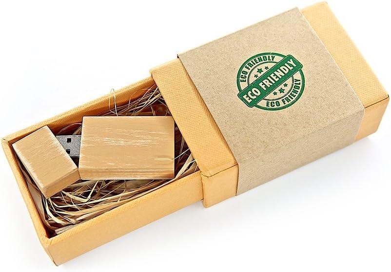 Single Item 1 8GB USB 2.0 Wooden Maple Drive Grove Stick Design