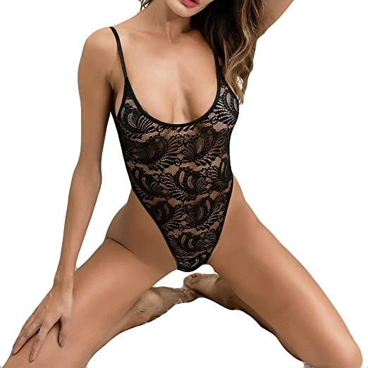 4b361387cb7 Amazon.com  Sexy See-Through Nightdress Nightwear Sleepwear for Sex ...