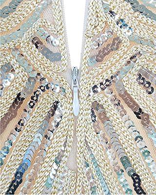Tempt me Women 1920's Sequined Embellished Fringed Tassel Cocktail Vintage Dress