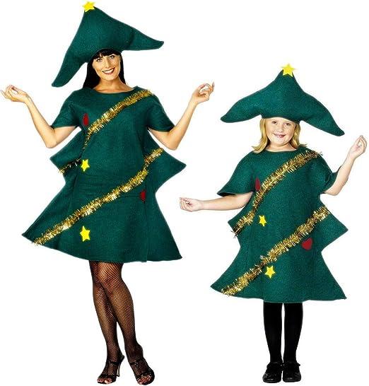 QLING - Disfraz de árbol de Navidad para Mujer y niña, diseño de ...