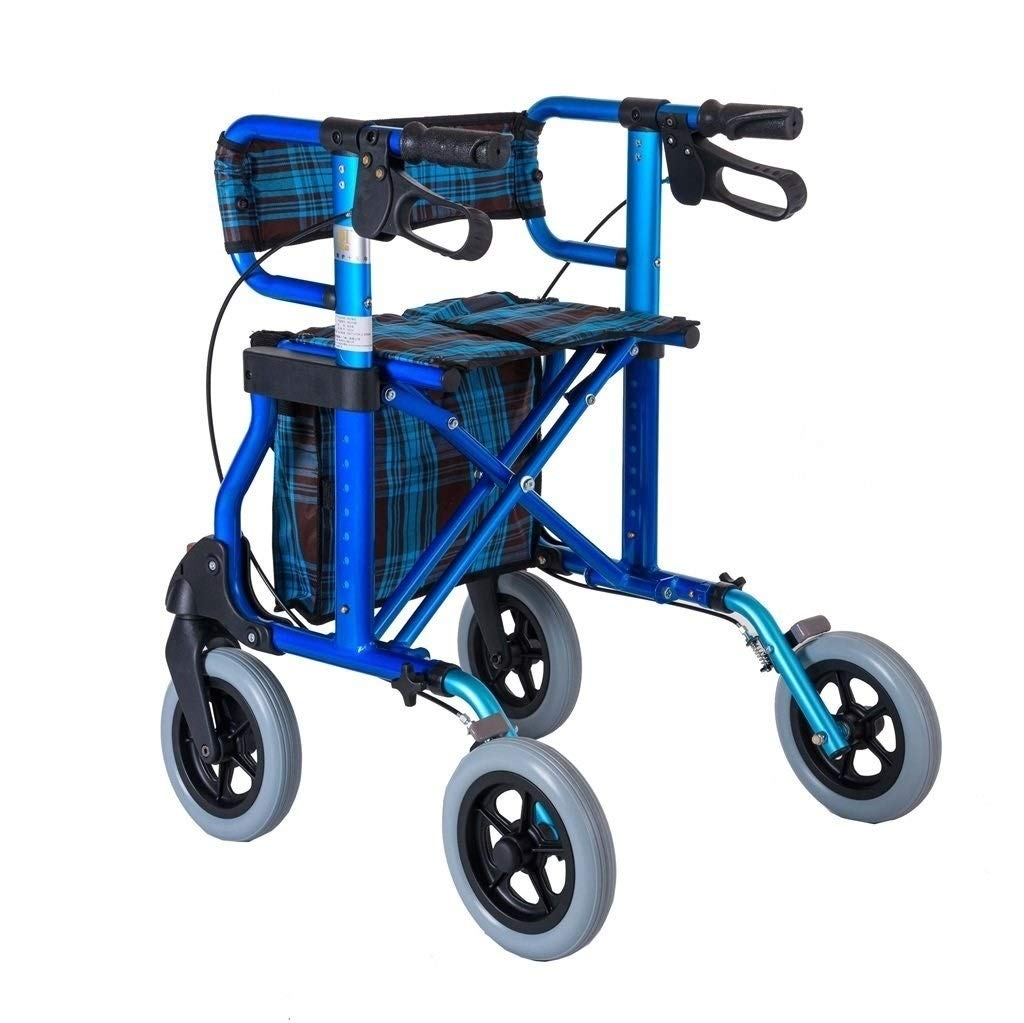Rollator Walker Vive, Rolling Walker with Seat Adjustable Handle Height Lockable Brake Auxiliary Walking Safety Walker by YL WALKER (Image #3)