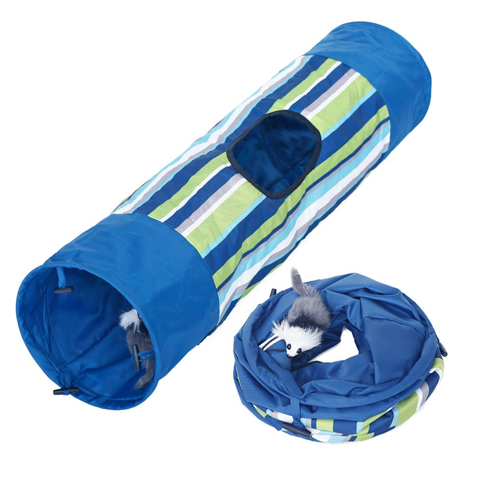 Ice con Cat Tunnel, Collapsible Durable Hideaway Pet Crinkle Cat Toys Play Tunnel with Ball for Cats, Rabbits, Kittens, and Dogs for Hiding Hunting and Resting by Ice con