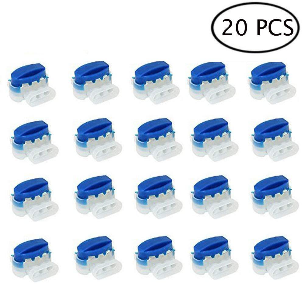 20 piezas Conectores de cable, Yangbaga Conector 314 Resistente al Agua para Automower Cortacésped Robótico