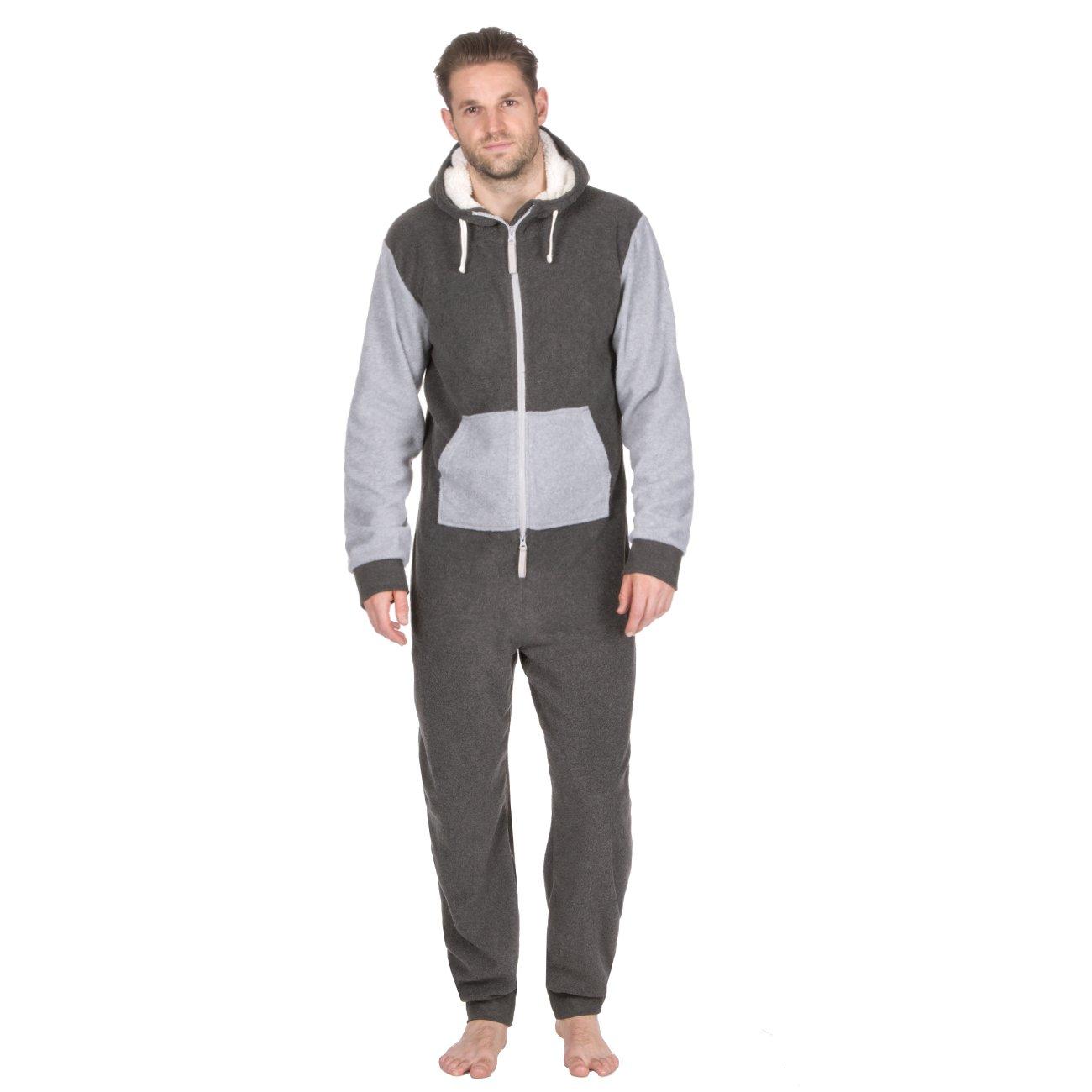 Sudadera micro polar de ONEZEE para hombre con capucha en colores contrastados