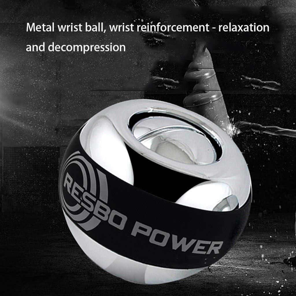 Selbststartender Metallhandgelenkball Schwerer D/ämpfer Krafttrainer Handgelenk-Gyro-Griff 60 Kg M/ännchen Color : Black