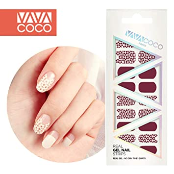 Buy Wine Vavacoco K Beauty Korean Real Gel Nail Strips 20pcs