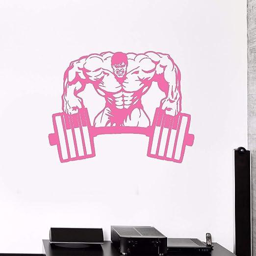 guijiumai Hombre musculoso Etiqueta de la Pared Gimnasio ...