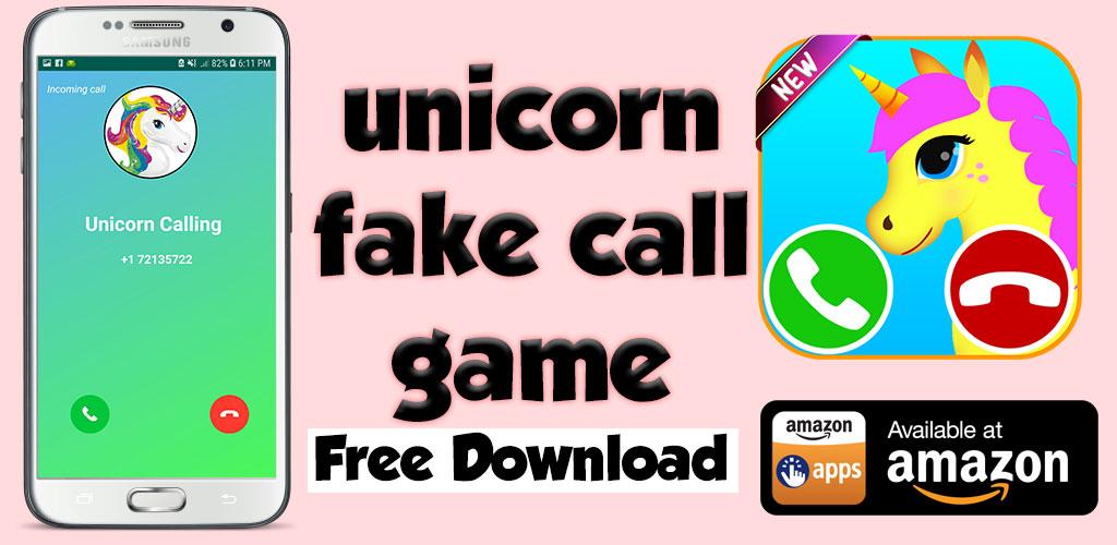 Amazon com: unicorn fake call game - Free fake phone call and fake