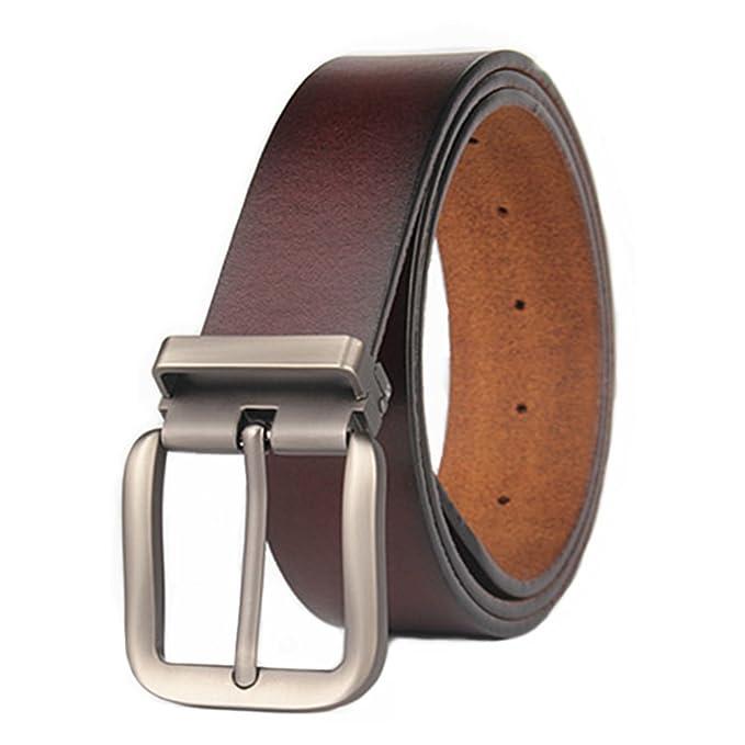 VRLEGEND Cinturón Hombre Cuero Cinturones Clásico con Hebilla Removible  110-180 cm (110cm 462d692f005f