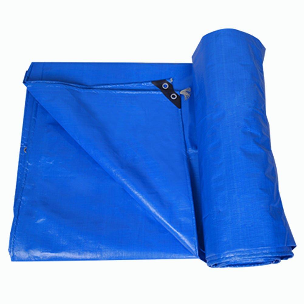 JIANFEI オーニング 防水耐寒性日除け防塵耐摩耗性ポリエチレン厚さ0.36mmカスタマイズ可能 (色 : Blue, サイズ さいず : 5.7x11.7m) B07FYMMKT8 5.7x11.7m|Blue Blue 5.7x11.7m